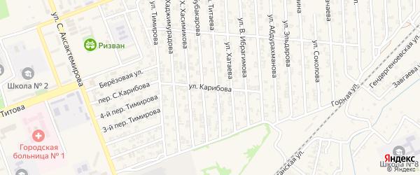 Улица С.Карибова на карте Аргуна с номерами домов