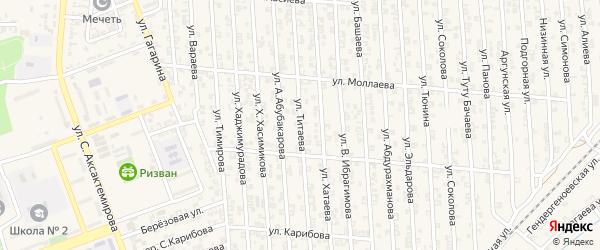 Улица Т.Титаева на карте Аргуна с номерами домов