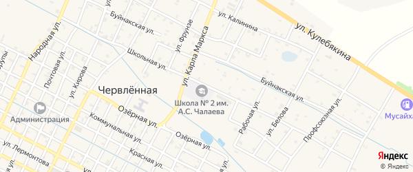 Школьная улица на карте села Каршыга-Аул с номерами домов