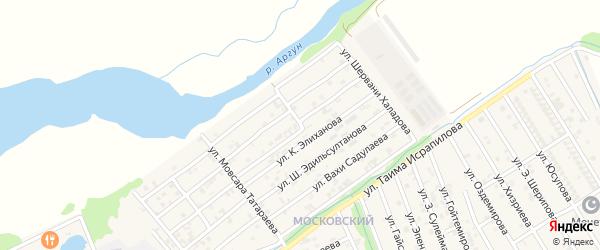 Улица С-А.Сулейманова на карте Аргуна с номерами домов