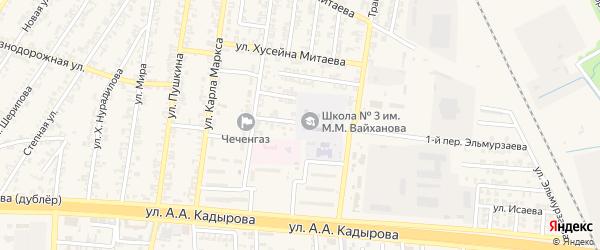 Улица Бацу Бацуева на карте Аргуна с номерами домов