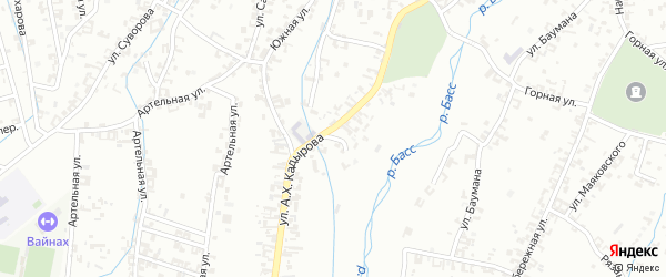 Переулок 3-й А.Кадырова на карте Шали с номерами домов