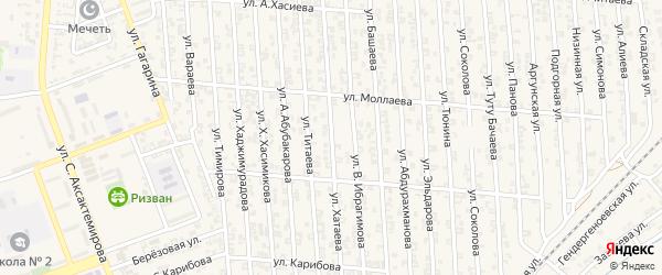 Улица Р.Хатаева на карте Аргуна с номерами домов