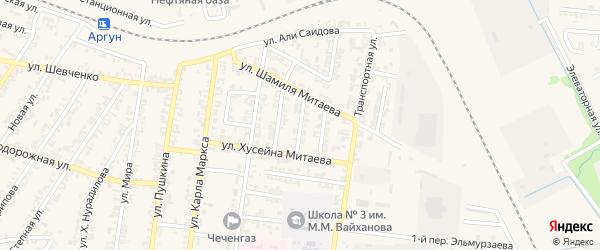 Исламская улица на карте Аргуна с номерами домов
