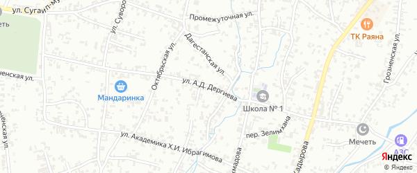 Школьная улица на карте Шали с номерами домов