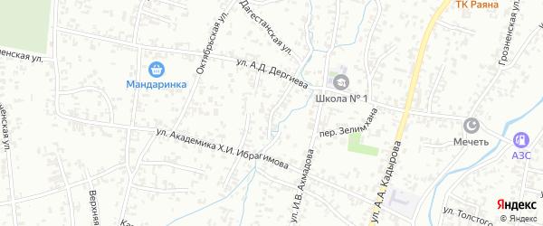 Курортная улица на карте Шали с номерами домов