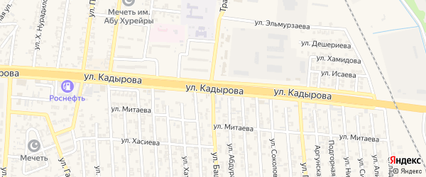 Улица А.А.Кадырова на карте Аргуна с номерами домов