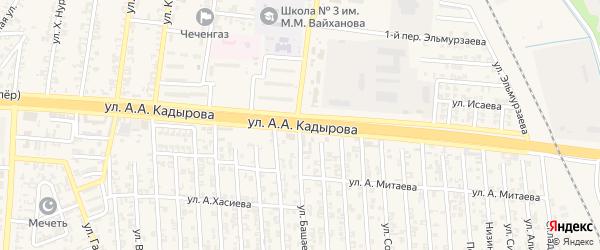 Улица Кадырова на карте Аргуна с номерами домов
