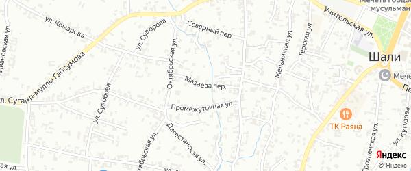 Улица Мазаева на карте Шали с номерами домов