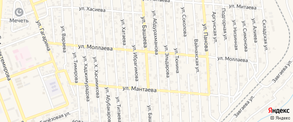 Улица Ю.Дешериева на карте Аргуна с номерами домов