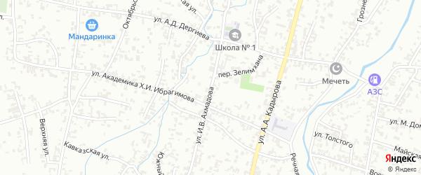 Улица Ахмадова на карте Шали с номерами домов