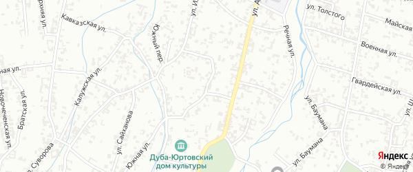 Безымянная улица на карте Шали с номерами домов