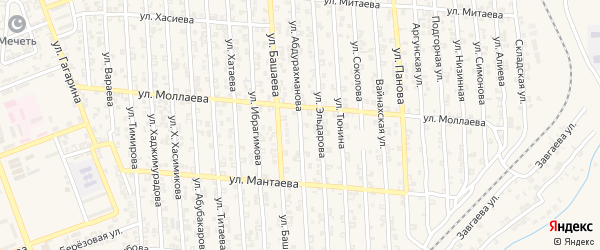 Улица К.Абдурахманова на карте Аргуна с номерами домов