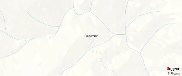 Карта села Галатли в Дагестане с улицами и номерами домов