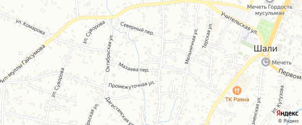 Переулок 2-й А.Кадырова на карте Шали с номерами домов