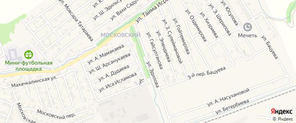 Улица Х.Эдилова на карте Аргуна с номерами домов