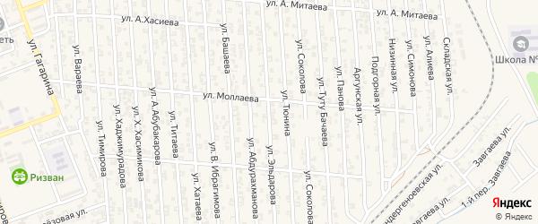 Улица З.Эльдарова на карте Аргуна с номерами домов