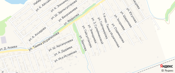 Улица У.Гайсултанова на карте Аргуна с номерами домов