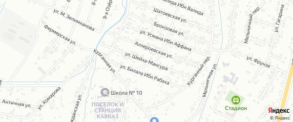 3-я Параллельная улица на карте Шали с номерами домов
