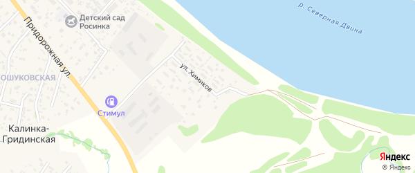 Улица Химиков на карте Фроловской деревни с номерами домов