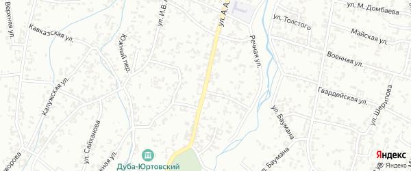 Улица Кадырова на карте Шали с номерами домов