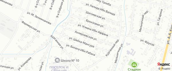 4-я Параллельная улица на карте Шали с номерами домов