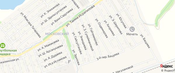 Улица З.Сулеймановой на карте Аргуна с номерами домов