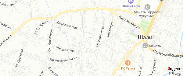 Улица Калинина на карте Шали с номерами домов