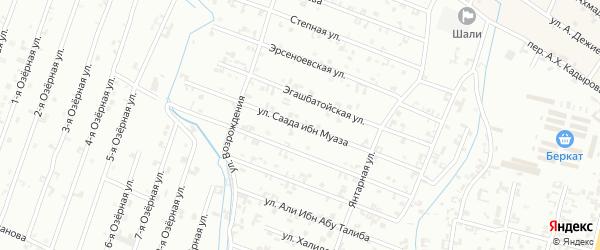 Параллельная улица на карте Шали с номерами домов