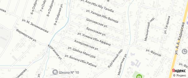 5-я Параллельная улица на карте Шали с номерами домов
