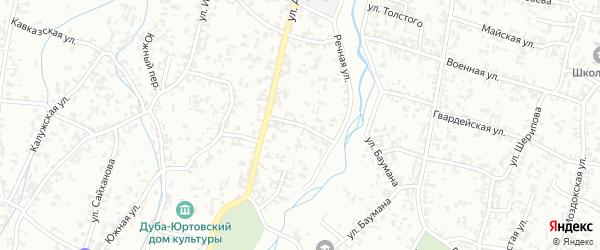 Речной переулок на карте Шали с номерами домов