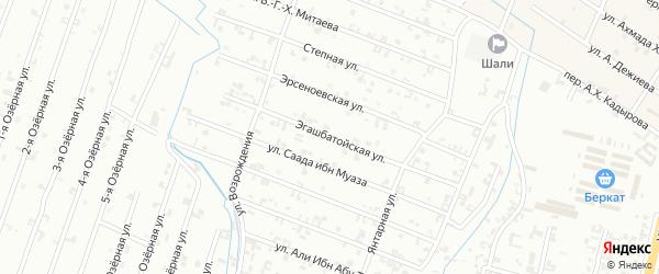 12-я Параллельная улица на карте Шали с номерами домов