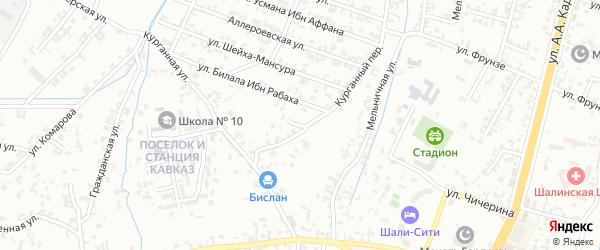 1-я Параллельная улица на карте Шали с номерами домов