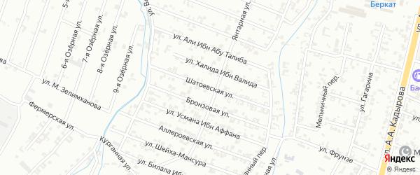 7-я Параллельная улица на карте Шали с номерами домов