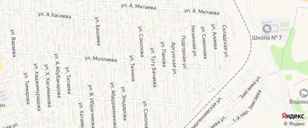 Вайнахская улица на карте Аргуна с номерами домов