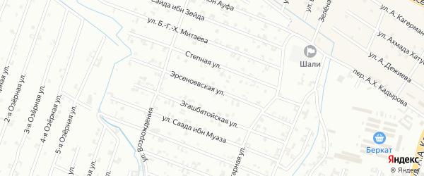 13-я Параллельная улица на карте Шали с номерами домов