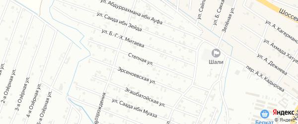 14-я Параллельная улица на карте Шали с номерами домов