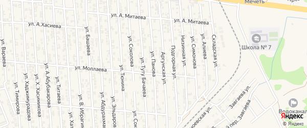 Улица В.Панова на карте Аргуна с номерами домов
