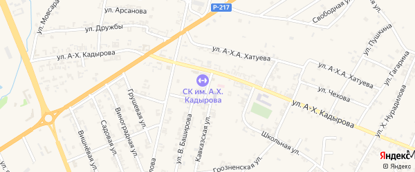 Почтовая улица на карте села Мескер-Юрт с номерами домов