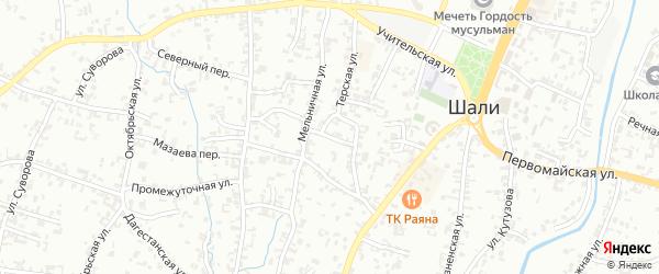 Переулок Свободы на карте Шали с номерами домов