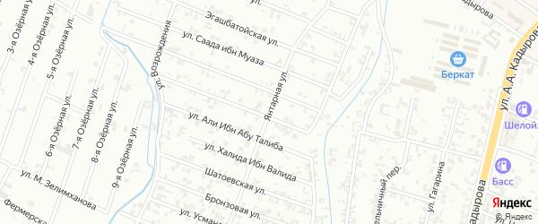 Янтарьная улица на карте Шали с номерами домов