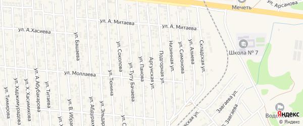 Аргунская улица на карте Аргуна с номерами домов