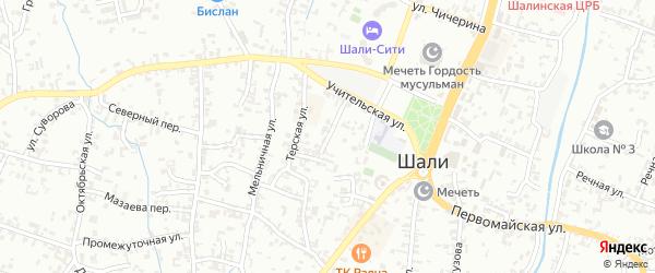 Переулок Мира на карте Шали с номерами домов