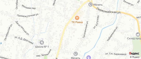 Улица Ленина на карте Шали с номерами домов
