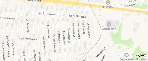 Низинная улица на карте Аргуна с номерами домов