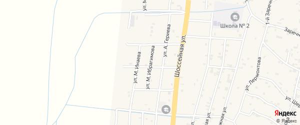 Переулок 2-й Турпал-Али Ибрагимова на карте села Герменчук с номерами домов