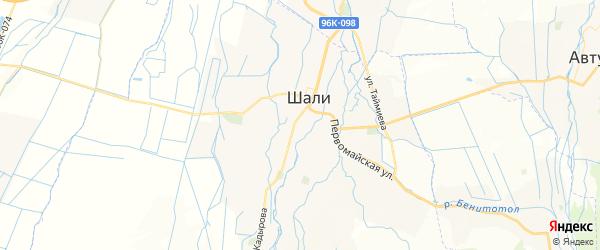 Карта Шали с районами, улицами и номерами домов