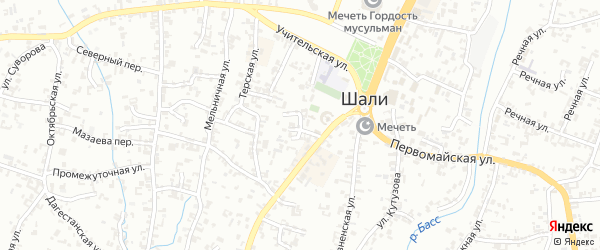 Веселый переулок на карте Шали с номерами домов