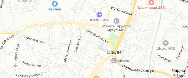 Незаметный переулок на карте Шали с номерами домов
