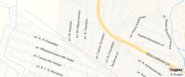 Улица Абдул-Керима Маашева на карте села Герменчук с номерами домов